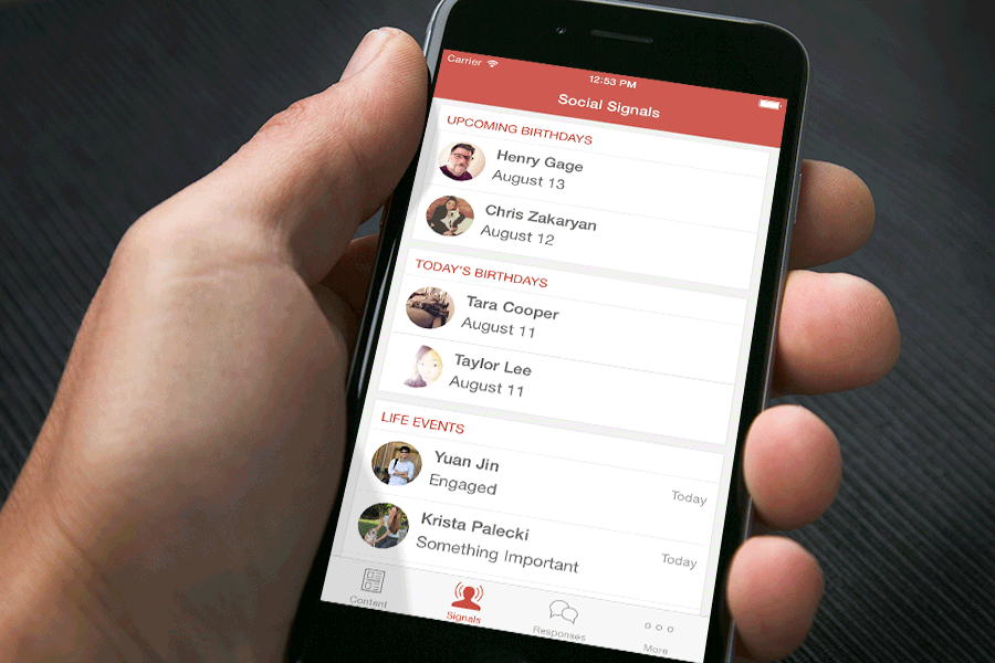 iPhone 6 App<span>Hearsay Social</span>